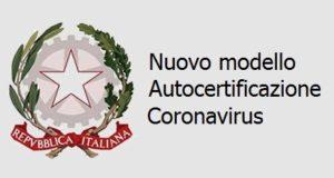 Modello autocertificazione coronavirus